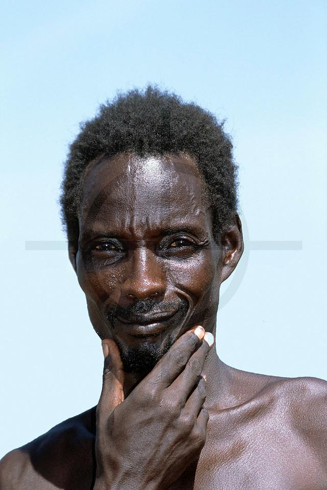 El-Molo man, near Loyangalani, Lake Turkana, Kenya