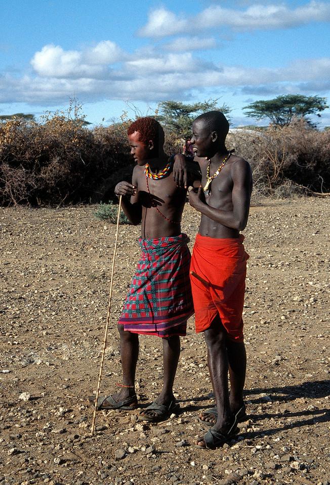 Samburu morans, north of Isiolo, Kenya