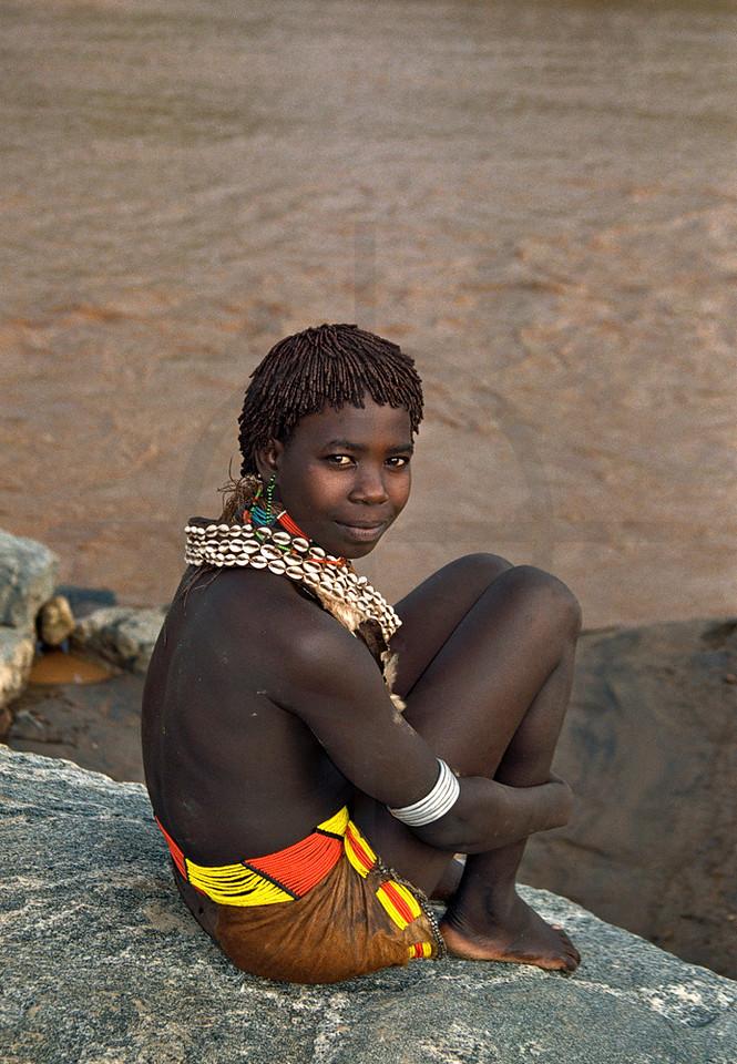 Hamer girl, Turmi, Southern Ethiopia