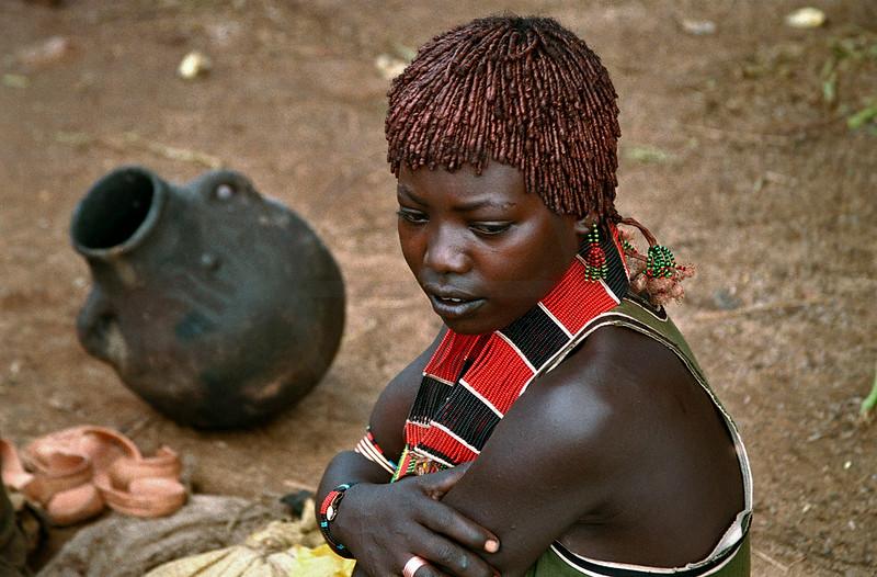 Hamer woman at Kay Afer market, Southern Ethiopia