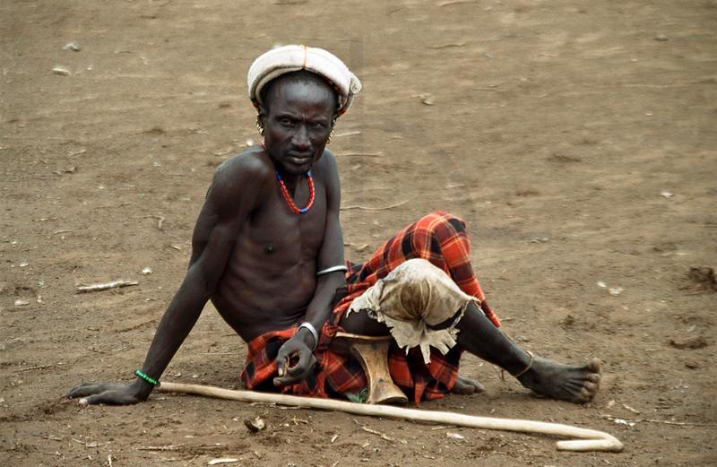 Galeb herdsman, Omorate, Southern Ethiopia