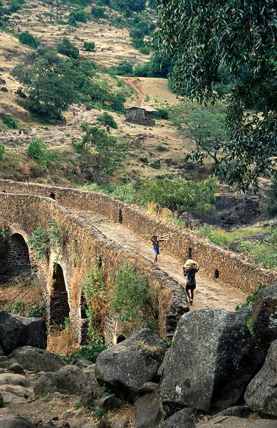 Portuguese bridge near Blue Nile Falls, Northern Ethiopia