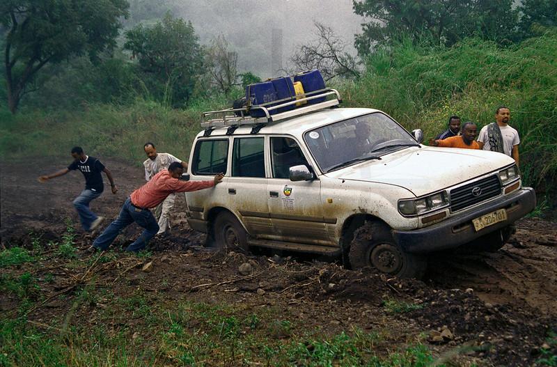 Rough road near Lake Abaya, Ethiopia
