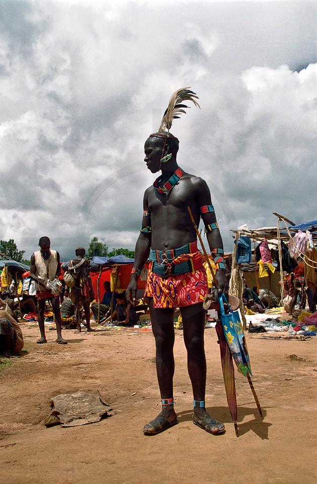 Hamer man, Dimeka market, Southern Ethiopia