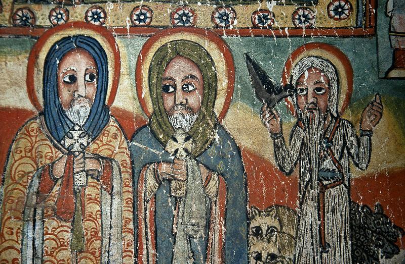 Painting in Ura Kidane Meret monastery, Zege Peninsula, Lake Tana, Northern Ethiopia