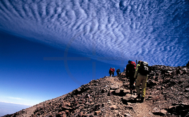 Hiking  Jebel Toubkal, High Atlas, Morocco
