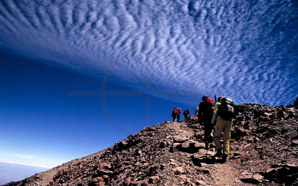 Hiking  Jebel Toubkal, High Atlas, Morocco