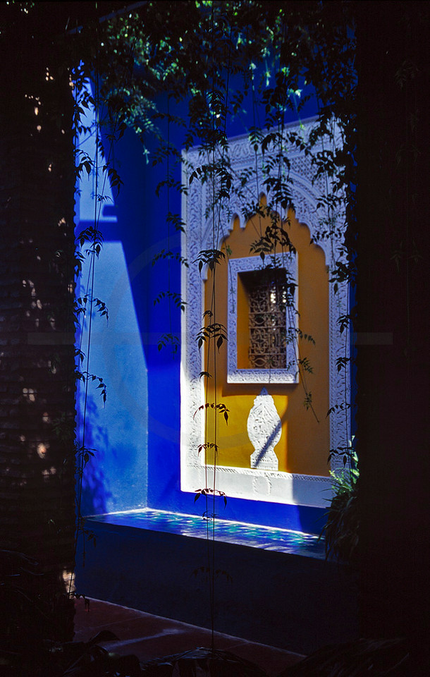 Window, Jardin Majorelle, Marrakesh, Morocco