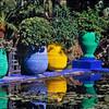 Garden and pond at  Jardin Majorelle, Marrakesh, Morocco
