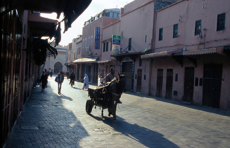 Early morning in the medina of Marrakesh, Morocco