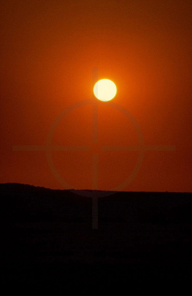 Sunset near Brandberg, Namibia