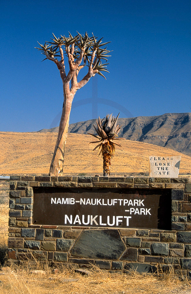 Namib Naukluft National Park entrance gate, Namibia