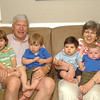 nana, grand-dad and the boys