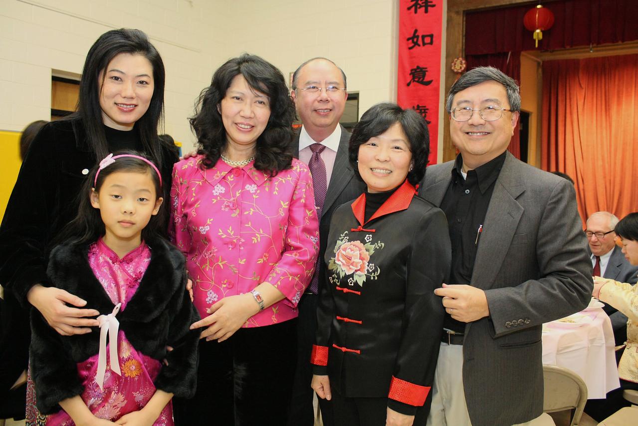 Patricia Tsai, Katelyn Tsai, Mrs. Wu, Pastor Wu, Dr. Jen Hsu, and Dr. Ben Hsu