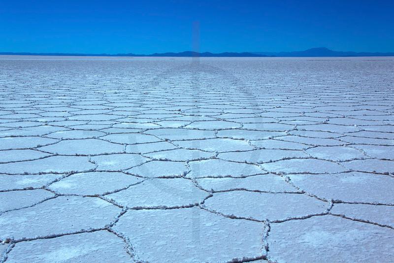 Salt crystals and formations, Salar de Uyuni, Bolivia