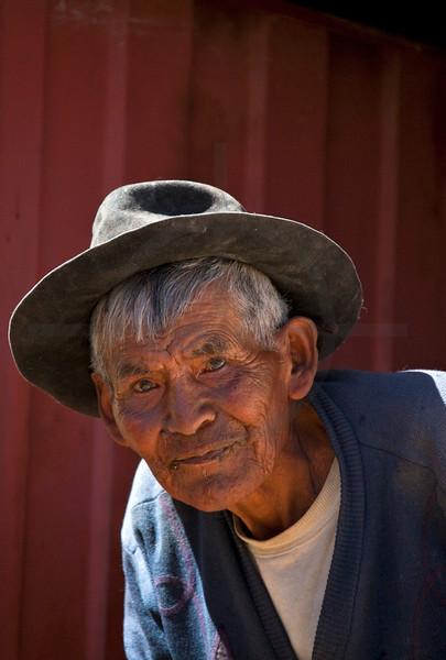 Old man, Jatun Yampura, Chuquisaca, Bolivia