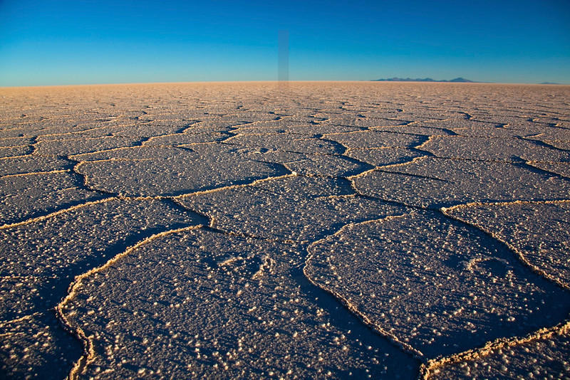 Salar de Uyuni in late afternoon light, Bolivia