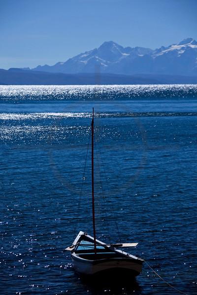 Boat on Lake Titicaca, Bolivia