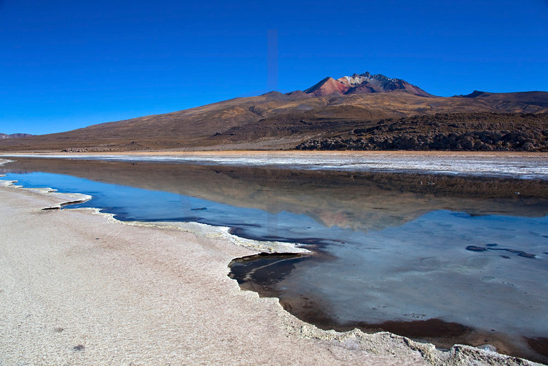 Landscape on the edge of Salar de Uyuni near Jijriri, Potosí, Bolivia