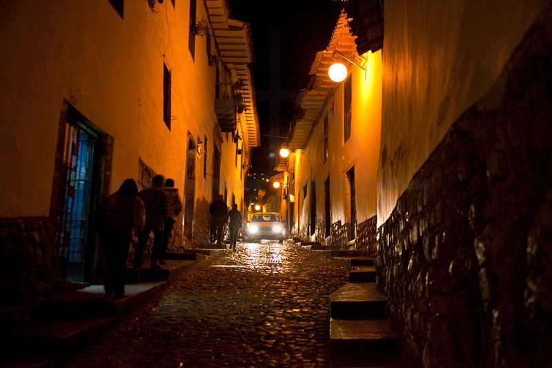 Cusco at night, Peru