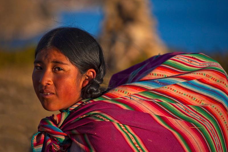 Aymara girl, Isla del Sol, Bolivia