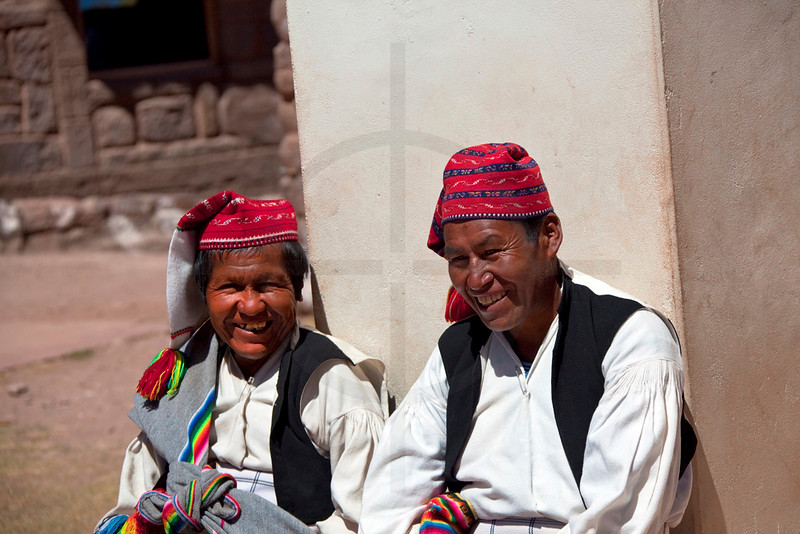 Laughter on Taquile Island, Lake Titicaca, Peru