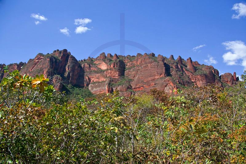 Rock formations, Chapada dos Guimerães, Mato Grosso, Brazil