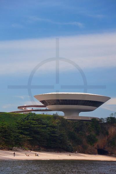 Museum of contemporay art, Niterói, Rio de Janeiro State, Brazil