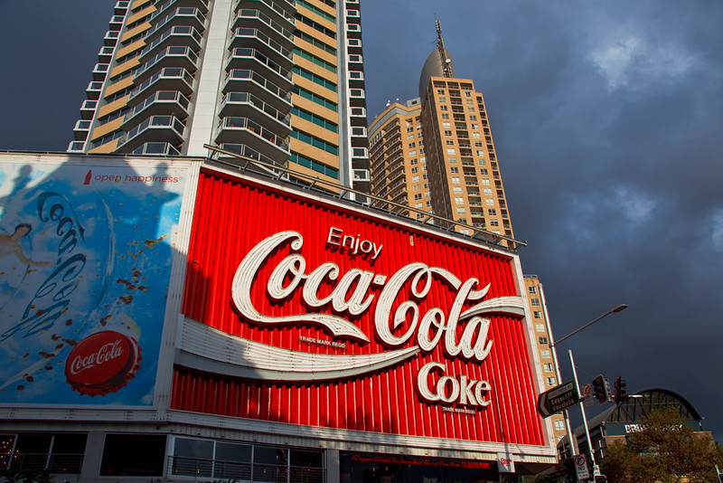 The Coca-Cola billboard, Kings Cross, Sydney, New South Wales, Australia