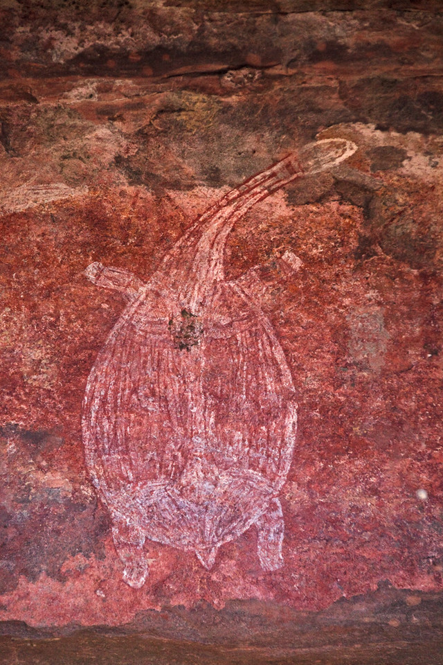 Aboriginal rock painting, Ubirr, East Alligator region, Kakadu National Park, Northern Territory, Australia