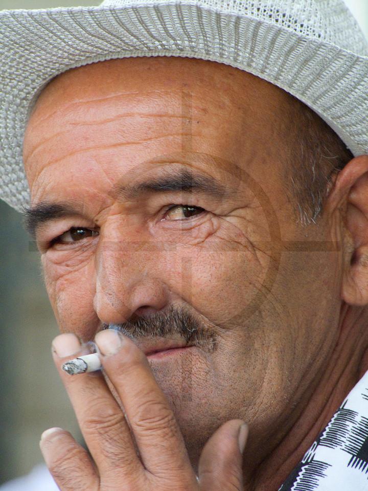 Smoking Tajik, Dushanbe, Tajikistan