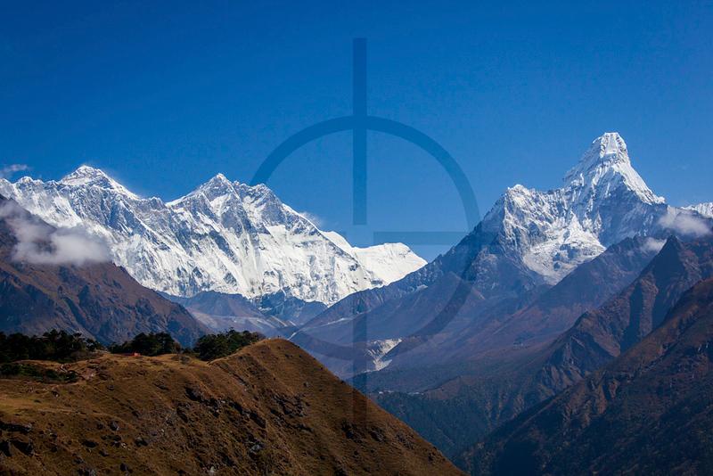 Mount Everest, Lhotse and Ama Dablam, Solukhumbu District, Nepal