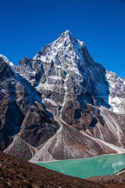 Chola Lake and Cholatse, Khumjung, Solukhumbu District, Nepal