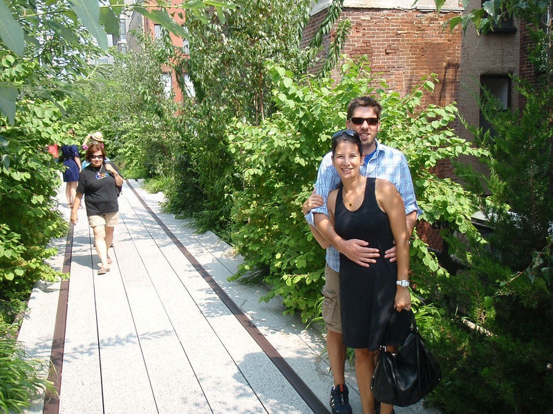 anniversary trip to nyc - on the highline
