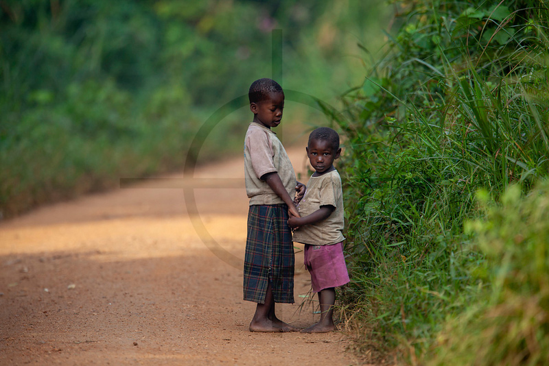 Children, near Bigodi Wetland Sanctuary, Fort Portal, Uganda