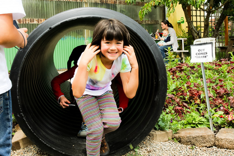 """Caterpillar poop is called """"frass"""", and the kids had fun pretending to come out the other end..."""