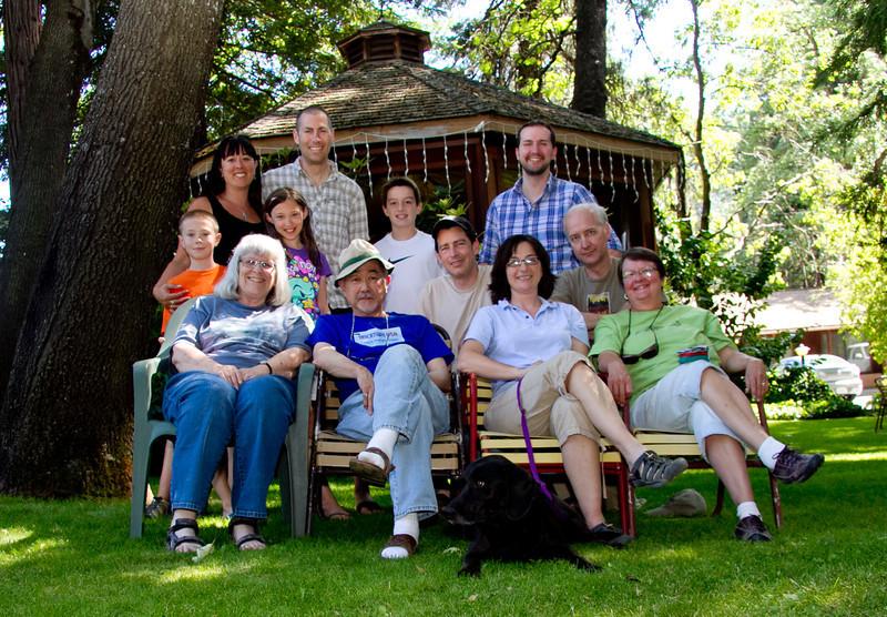 The crew of Camp Dunsmuir 2012<br /> Back row L-R: Xander, Diana, Venice, Chris, Shelby, Ed, Peter, David<br /> Fron row L-R: Barbara, Gordon, Janas, Betsy