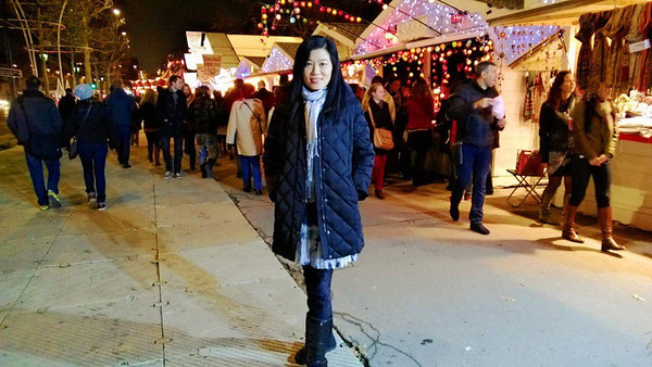 After dinner found an amazing Christmas Market on the other end of the Champs-Elysees!! Magical