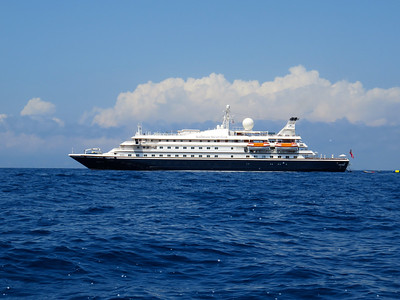 The Sea Dream I, sailing from Civitavecchia (Rome) to Venice. A total of 95 passengers and a crew of 105 - needless to say, the service was exceptional !