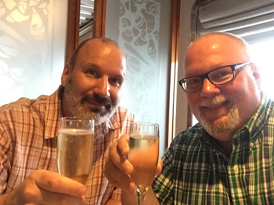 Nothing signals the start of vacation more than a champagne toast! Sailing from Civitavecchia, Italy to our first port in Capri.