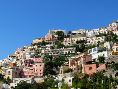 There are no roads to reach the upper levels of Positano — just footpaths and endless stairs (and spectacular views).