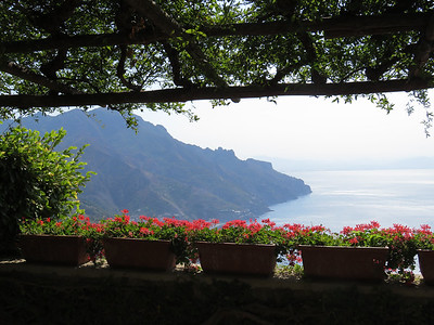 Looking south along the Amalfi Coast from Ravello.