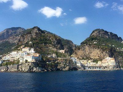 The town of Amalfi on the Amalfi Coast.
