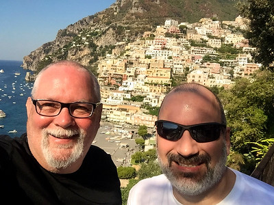 The beautiful town of Positano on the Amalfi Coast….an engineering marvel, for sure.