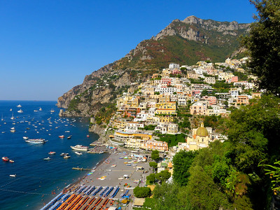 Next stop - Positano, generally considered to be the most beautiful town on the Amalfi Coast. Having been here several times, we would not argue the point.