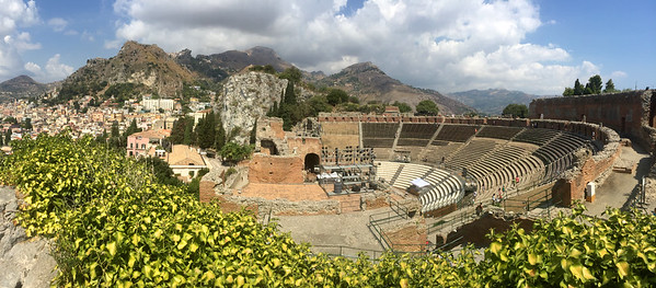The Roman Amphitheater in Taormina, Siciliy.
