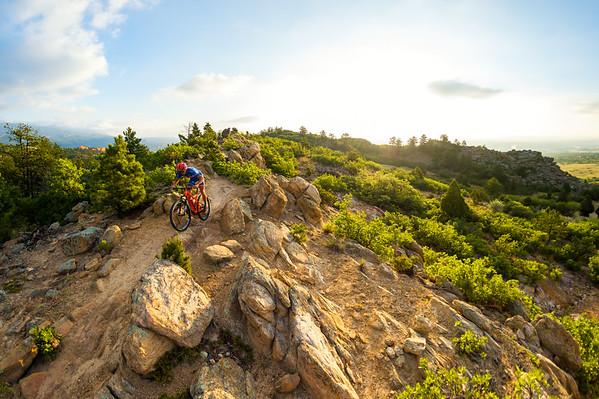 Russell Finsterwald mountain biking in Colorado