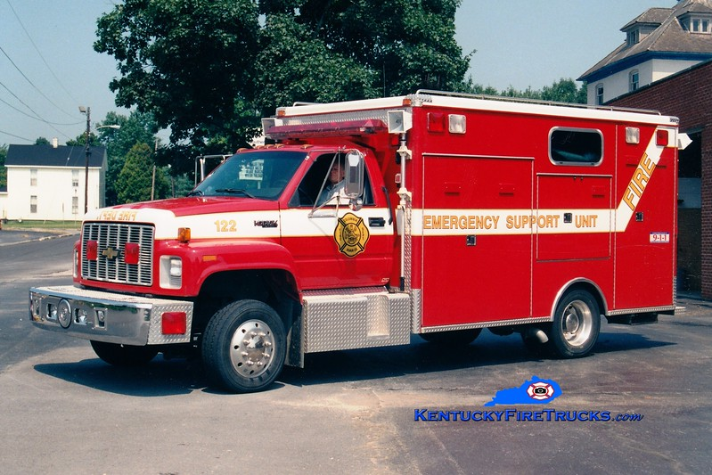 <center> RETIRED <br> Columbia-Adair County  Rescue 122 <br> 1994 Chevy Kodiak/McCoy Miller <br> Greg Stapleton photo </center>