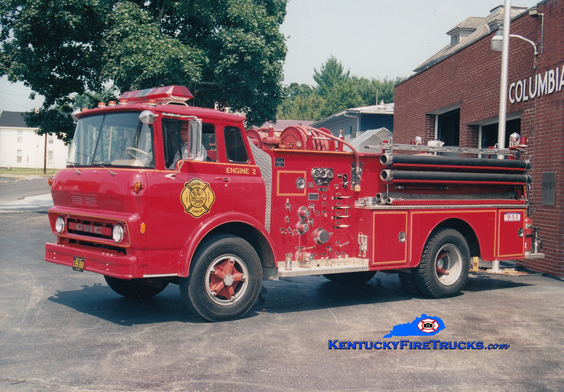 <center> RETIRED <br> Columbia  Engine 2 <br> 1967 GMC/Oren 750/500  <br> Greg Stapleton photo </center>