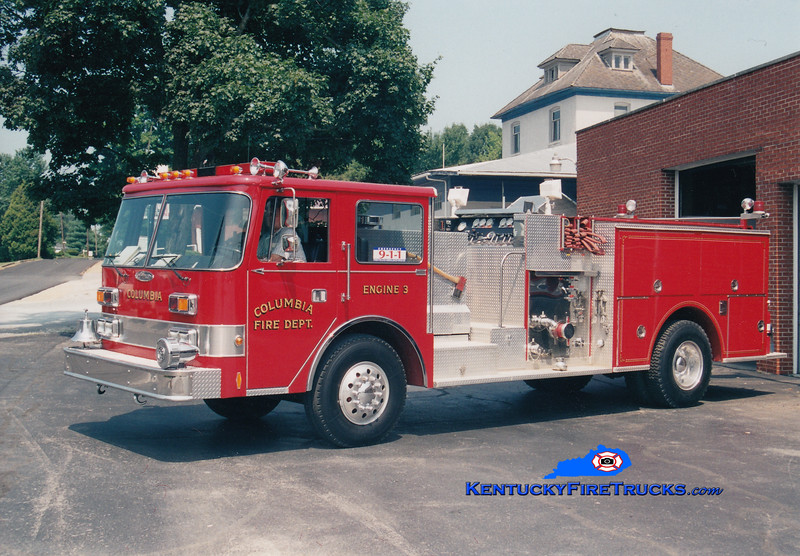 <center> RETIRED <br> Columbia  Engine 3 <br> 1986 Pierce Arrow 1000/750  <br> Greg Stapleton photo </center>